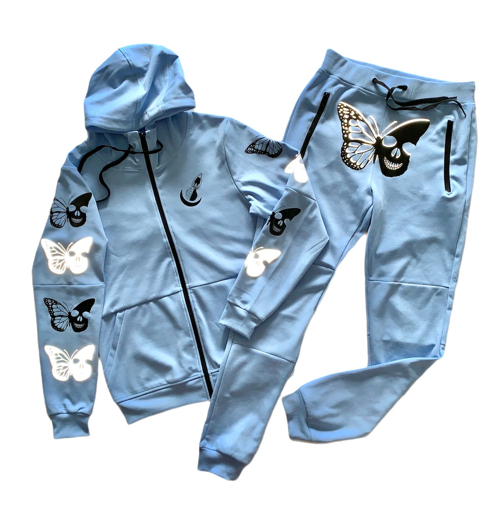 "Ice Blue ""Skull Butterfly"" Set"