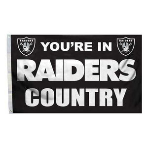 Oakland Raiders Silver & Black Country 3x5 Flag