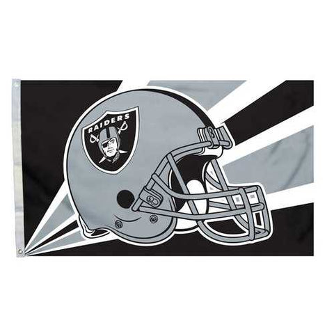 Oakland Raiders Helmet Art 3x5 Flag