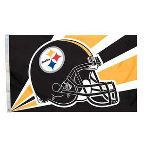 Pittsburgh Steelers Helmet Art 3x5 Flag