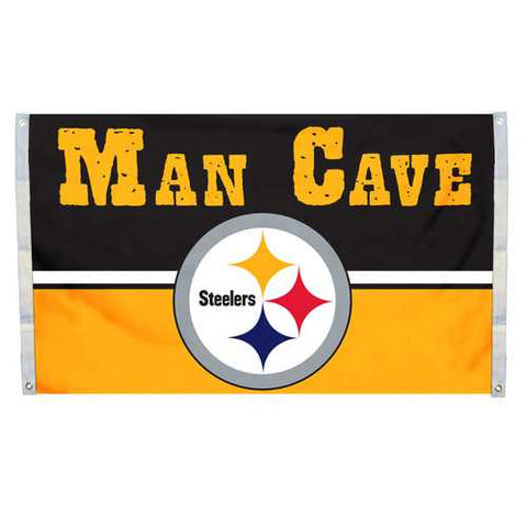 Pittsburgh Steelers Man Cave 3x5 Flag