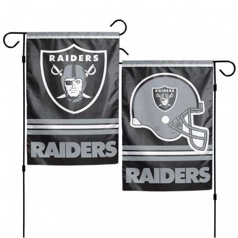 Oakland Raiders Flag 12x18 Garden Style 2 Sided