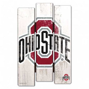 Ohio State Buckeyes 11x17 Wood Fence Sign