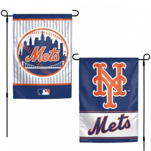 New York Mets Flag 12x18 Garden Style 2 Sided