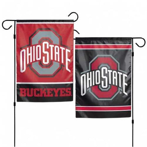 Ohio State Buckeyes Flag 12x18 Garden Style 2 Sided