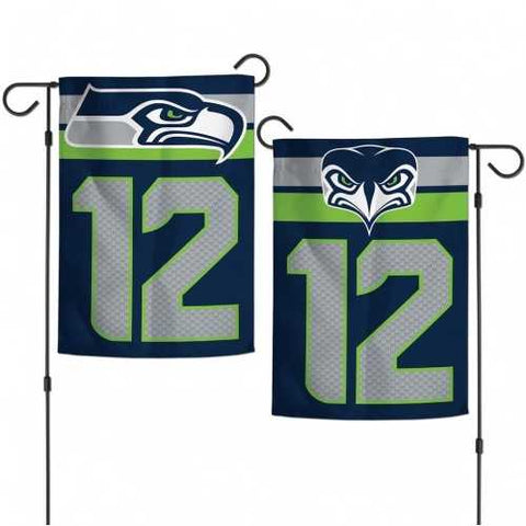 Seattle Seahawks Flag 12x18 Garden Style 12th Man Design