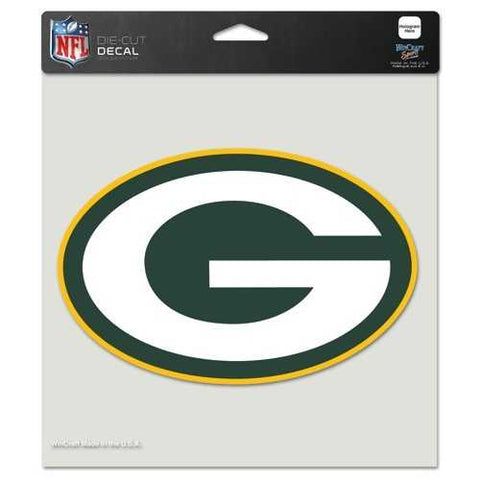 Green Bay Packers Decal 8x8 Die Cut Color