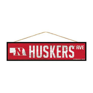 Nebraska Cornhuskers Sign 4x17 Wood Avenue Design
