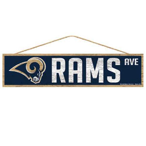 Los Angeles Rams Sign 4x17 Wood Avenue Design
