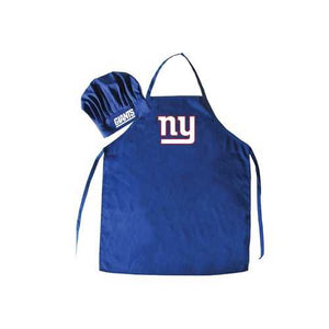 New York Giants Apron and Chef Hat Set