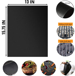 BBQ Grill Mat Set of 12