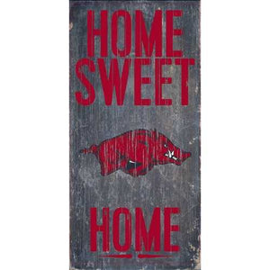 Arkansas Razorbacks Home Sweet Home 6x12 Wood Sign