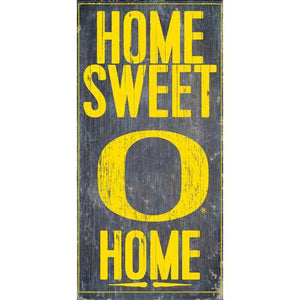 Oregon Ducks Home Sweet Home 6x12 Wood Sign