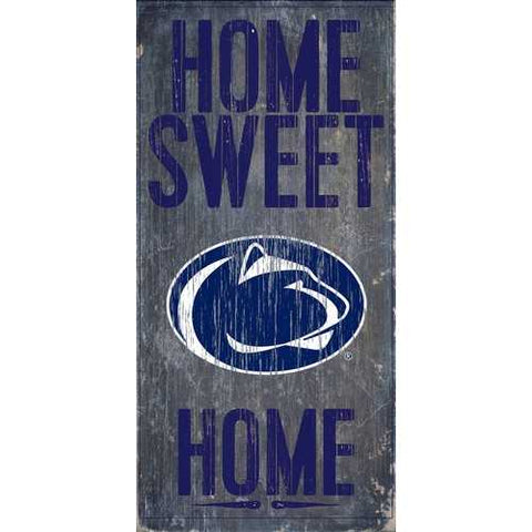 Penn State Nittany Lions Home Sweet Home 6x12 Wood Sign
