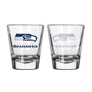 Seattle Seahawks Shot Glass - 2 Pack Satin Etch
