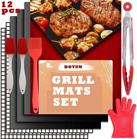 FREE - BBQ Grill Mat Set of 12