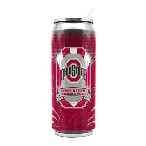 Ohio State Buckeyes Stainless Steel Thermo Can 16.9 oz