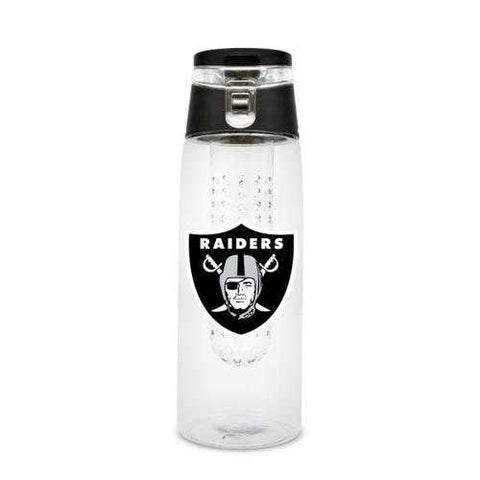 Oakland Raiders Sport Bottle 24oz Plastic Infuser Style