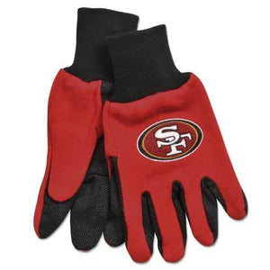 San Francisco 49ers Two Tone Adult Size Gloves