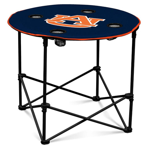 Collegiate Collapsible Round Table with 4 Cup Holders and Carry Bag