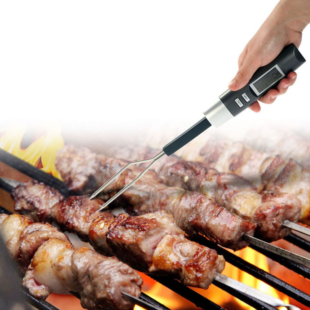Digital BBQ Meat Thermometer Fork