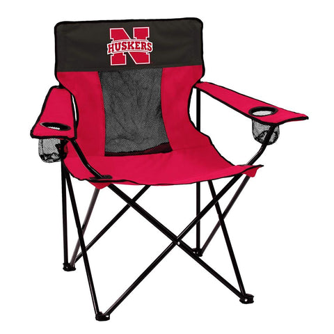 Collegiate Folding Elite Chair with Mesh Back and Carry Bag