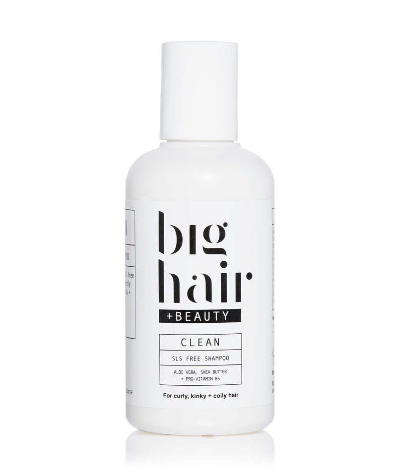 Big Hair Travel Size CLEAN SLS Free Shampoo for curly and afro hair