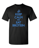 Keep Calm and Eat Brotein Short-Sleeve Black