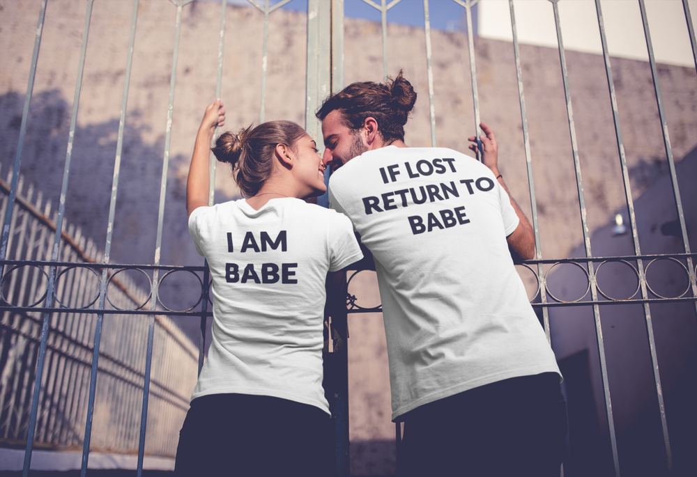 If Lost Return To Babe I Am Babe Couples T-shirt