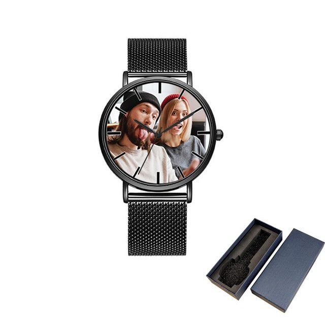 Personalised Black Sport Watch