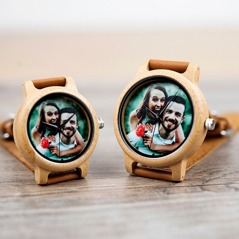 Personalised Bamboo Watch