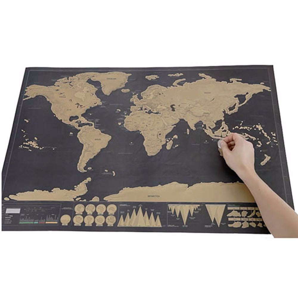 Scratch off travel map poster