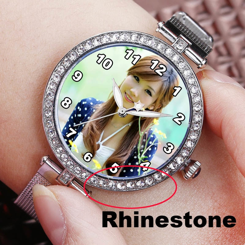 Personalised Rhinestone Women Watch