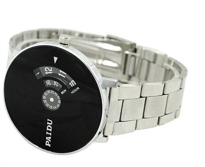 Turntable Dial Mens wrist watch