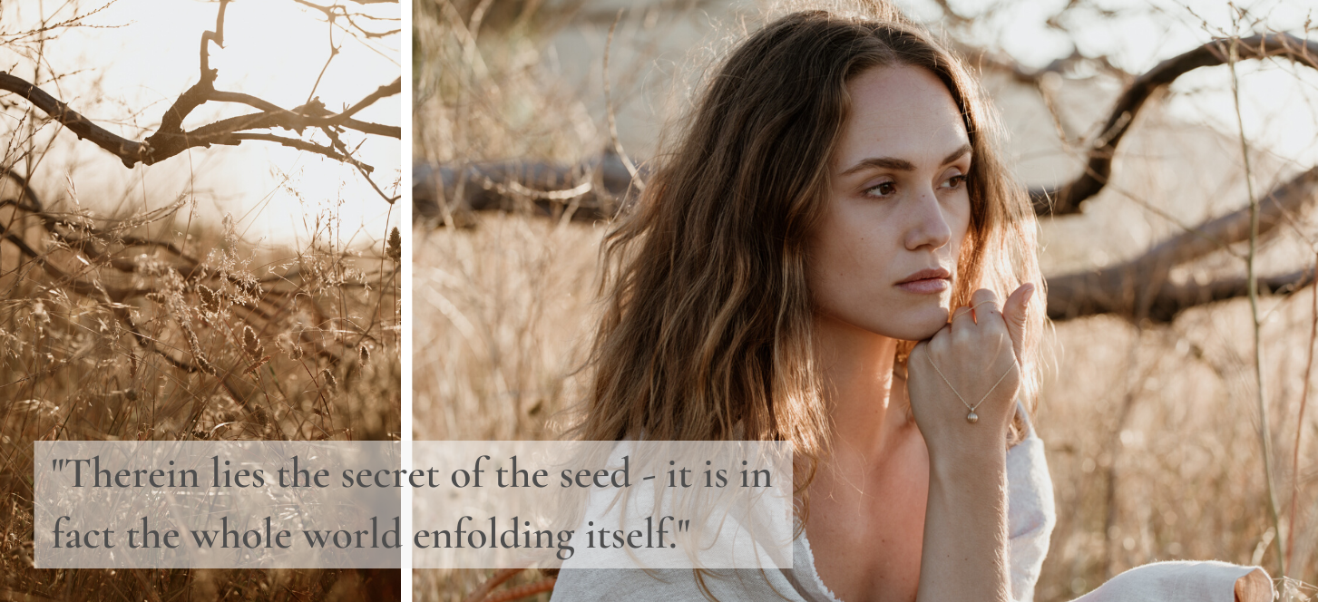Seeds are a powerful symbol; new beginnings, hope and abundance. The ideal design inspiration for our new eco-friendly. nature inspired, recycled silver and gold jewelry collection