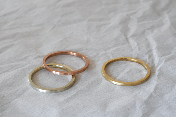Recycled yellow, rose and white gold eco-friendly rings