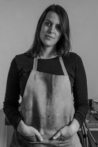 Goldsmith and AuTerra founder Ashley Heather in our eco-friendly jewellery studio and workshop