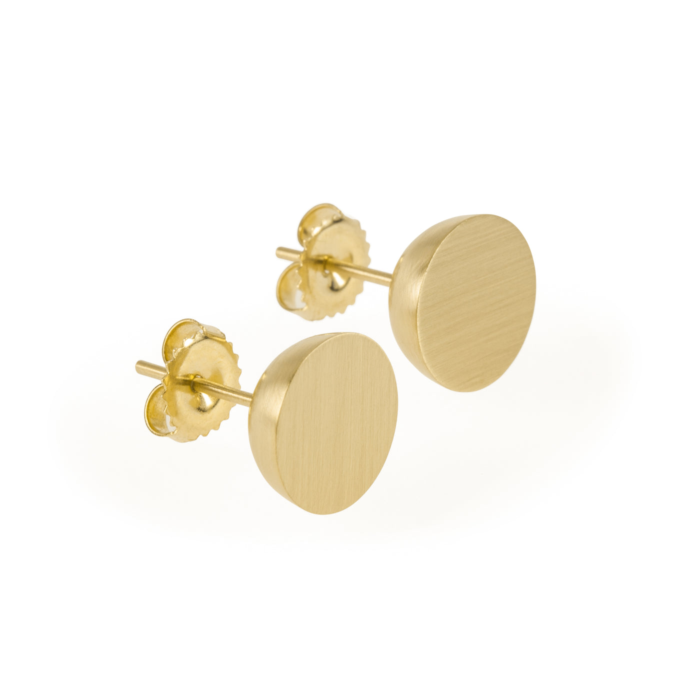 11mm Hemisphere Gold Studs