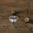 Ethical silver ring. This minimalist Flat Band is handmade in Cape Town in recycled silver from e-waste.