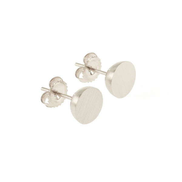 Ethical silver earrings. These minimalist 9mm Hemisphere Studs are handmade in Cape Town in recycled silver from e-waste.