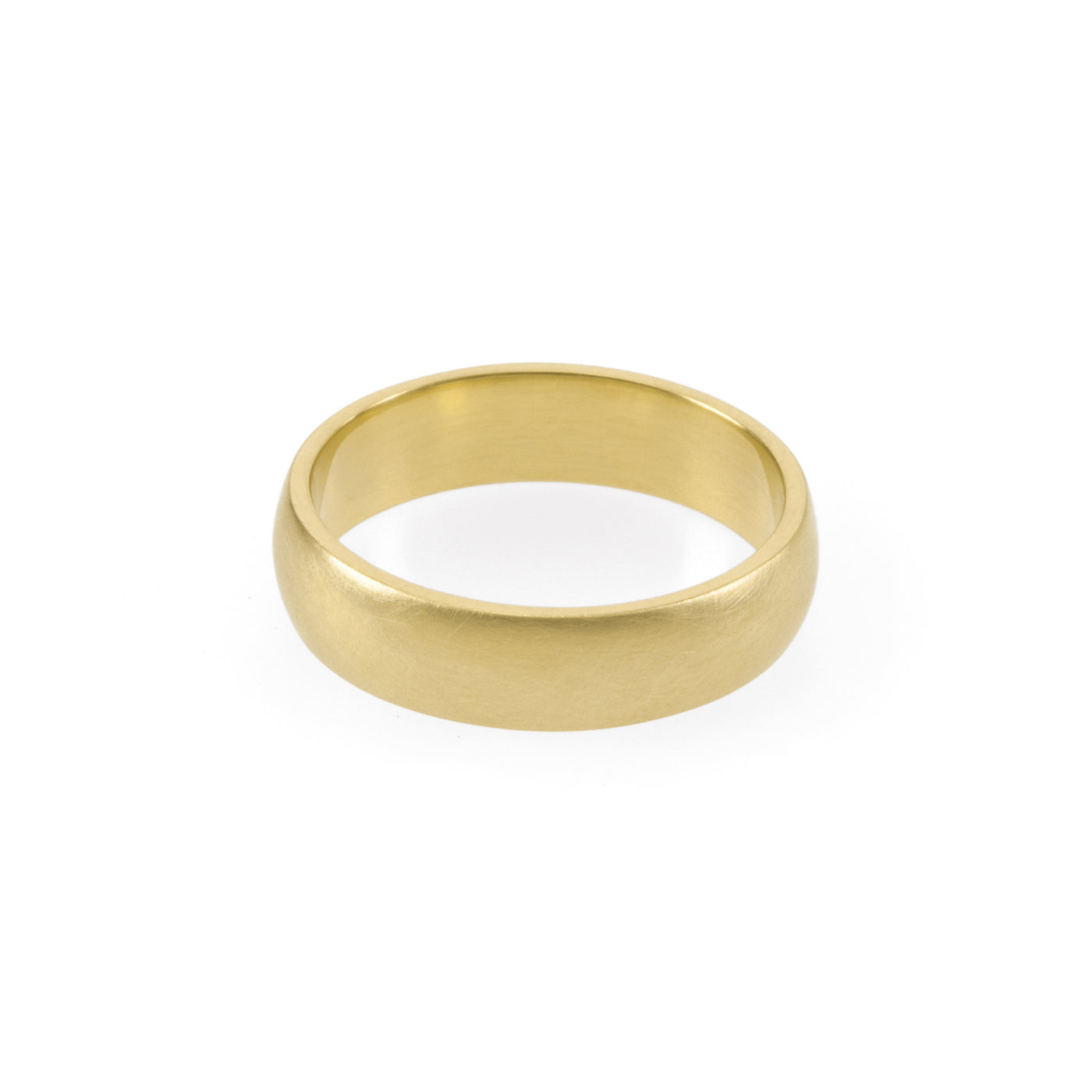Ethical gold ring. This minimalist Domed Band is handmade in Cape Town in recycled gold from e-waste.