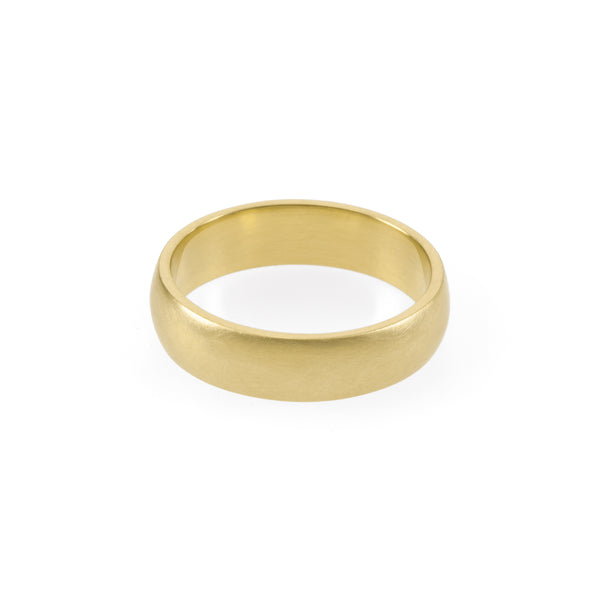 Domed Gold Band