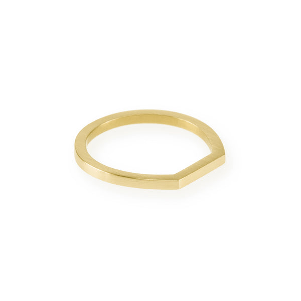 Ethical gold ring. This eco-friendly Flat Top Ring is handmade in Cape Town in recycled gold from e-waste.
