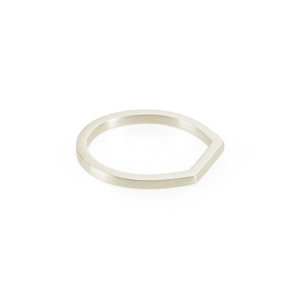 Ethical silver ring. This eco-friendly Flat Top Ring is handmade in Cape Town in recycled silver from e-waste.
