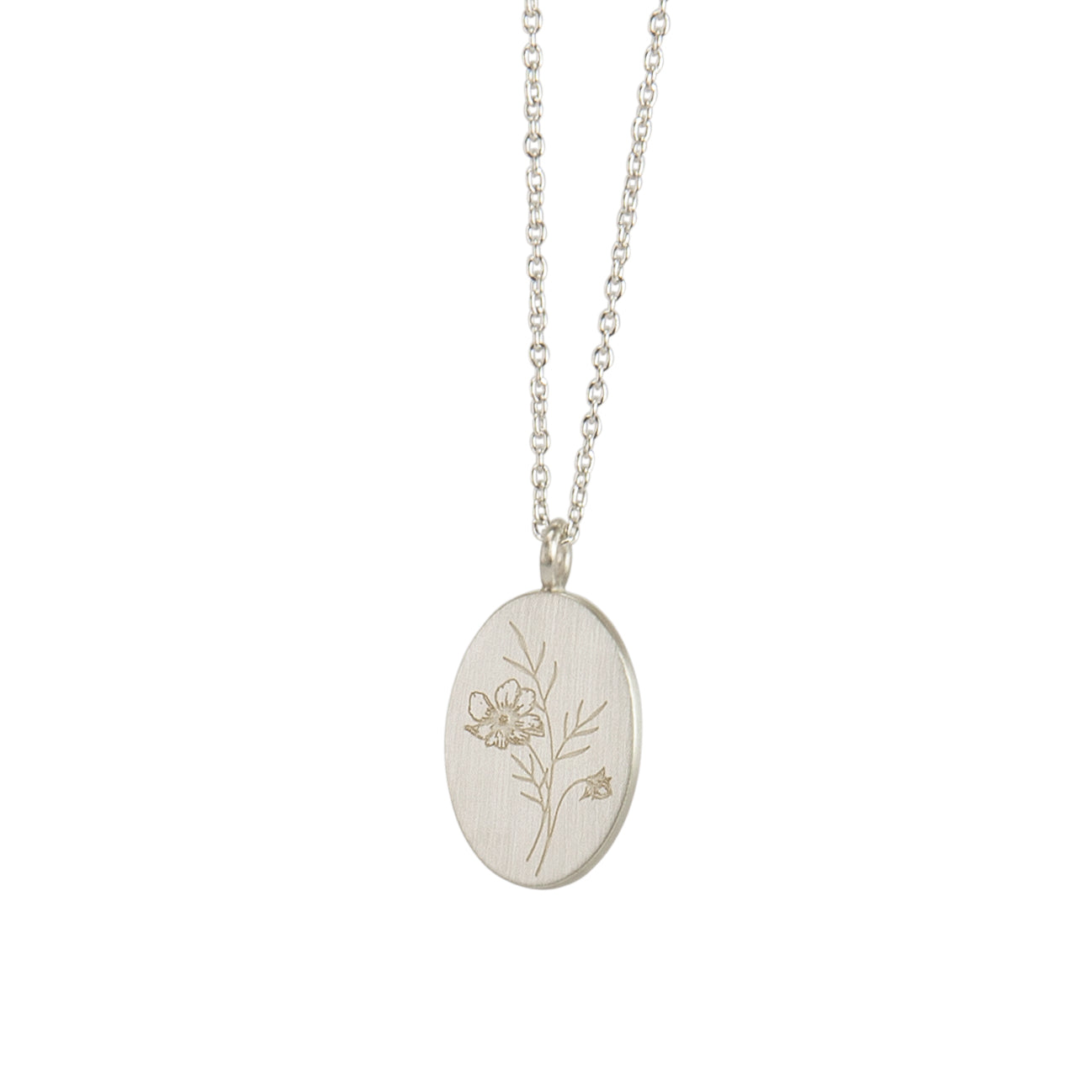 Follow the Flowers Silver Pendant
