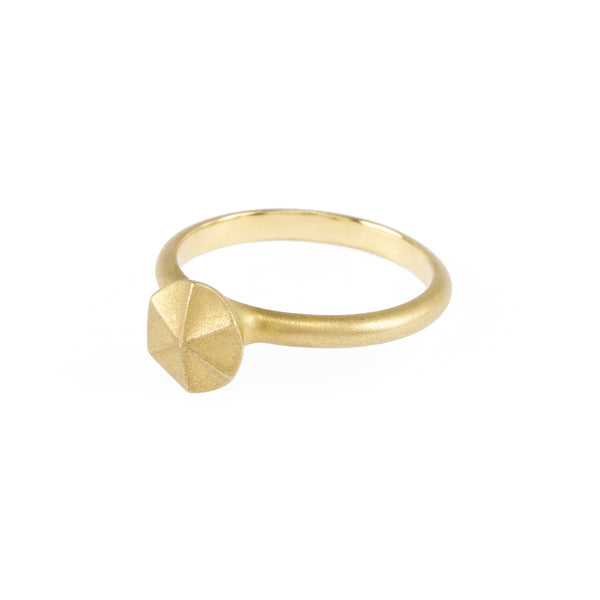 Sustainable gold ring. This artisan crafted Growth Ring is handmade in Cape Town in recycled gold from e-waste.