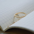 Ethical gold ring. This eco-friendly Line Ring is handmade in Cape Town in recycled gold from e-waste.