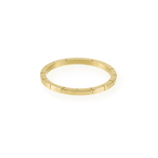 Ethical gold ring. This minimalist Line Ring is handmade in Cape Town in recycled gold from e-waste.