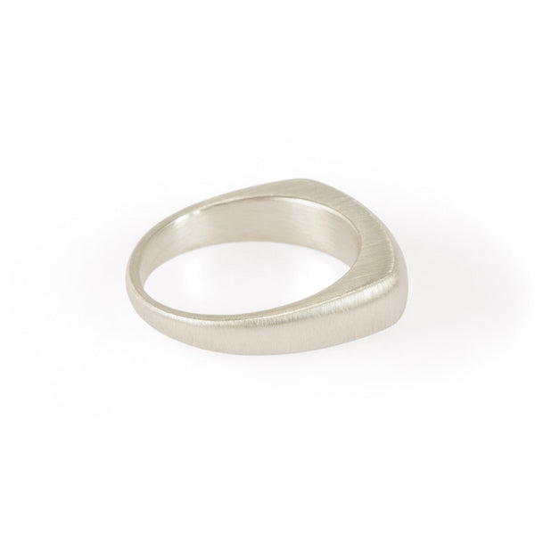 Ethical silver ring. This eco-friendly Pebble Angular Ring is handmade in Cape Town in recycled silver from e-waste.