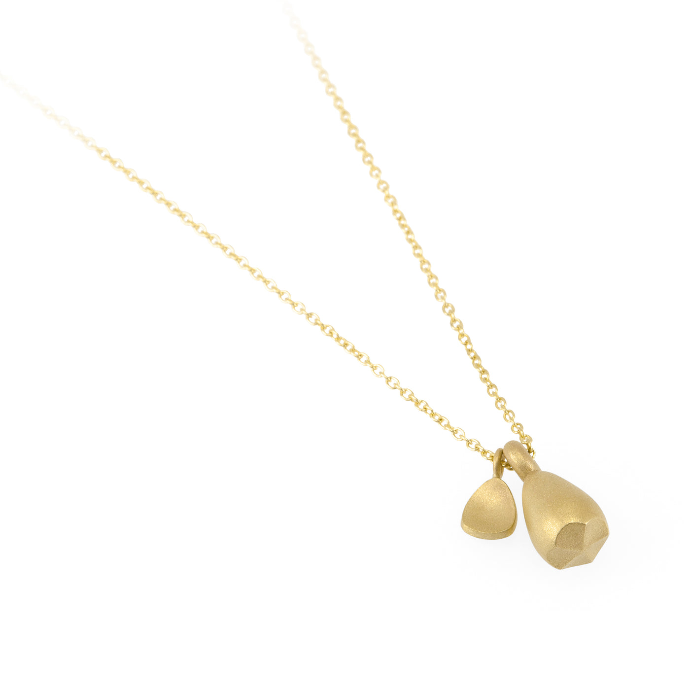 Pod Gold Pendant with Leaf
